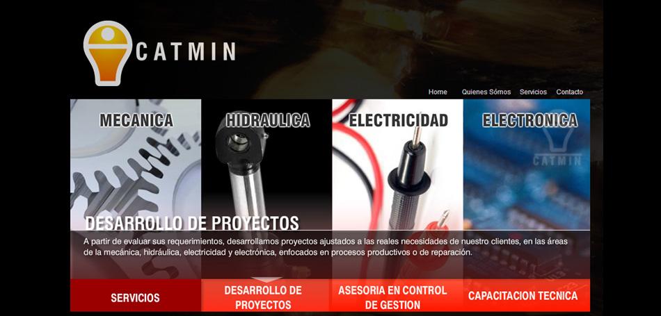 Sitio web Catmin.cl