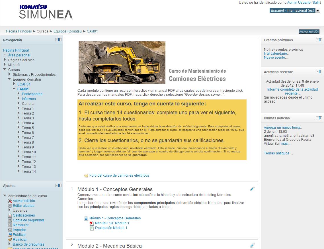 """Implementación Campus Virtual """"SIMUNEA"""""""